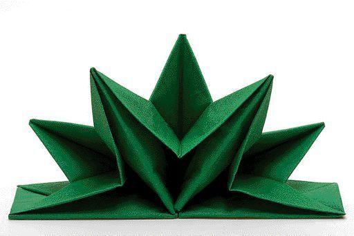 Sternform Servietten Farbe Grün 12 Stück Pro Pack